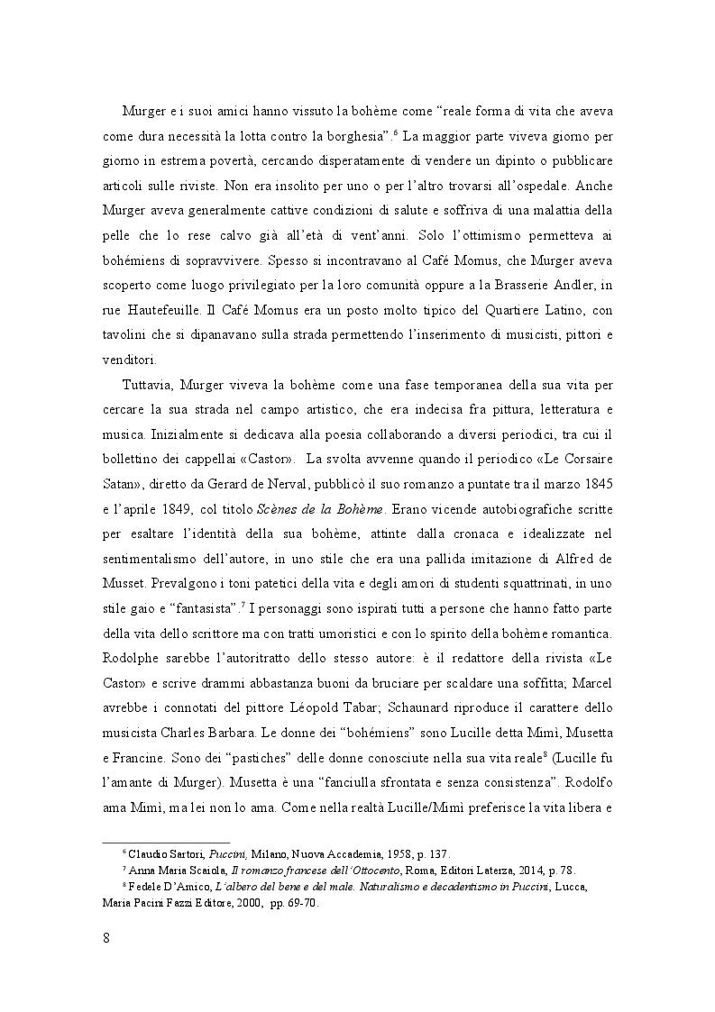 Estratto dalla tesi: ''La Bohème'' di Giacomo Puccini fra simbolismo e scapigliatura