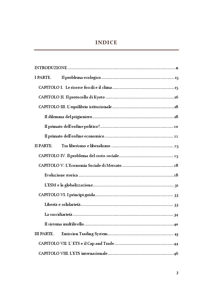 Indice della tesi: Mercato Agroalimentare Mondiale ed Economia Sociale di Mercato, Pagina 1