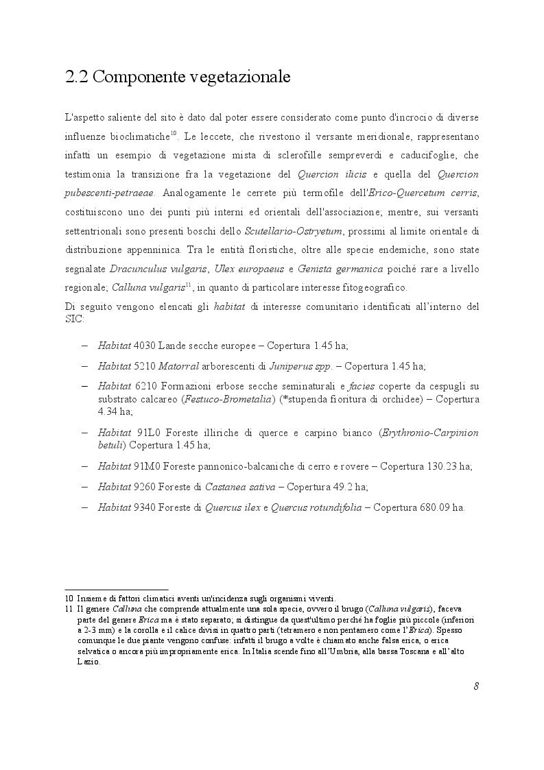 """Estratto dalla tesi: La Martora nel SIC """"Monte Malbe""""  in relazione alla comunità dei Mesocarnivori"""