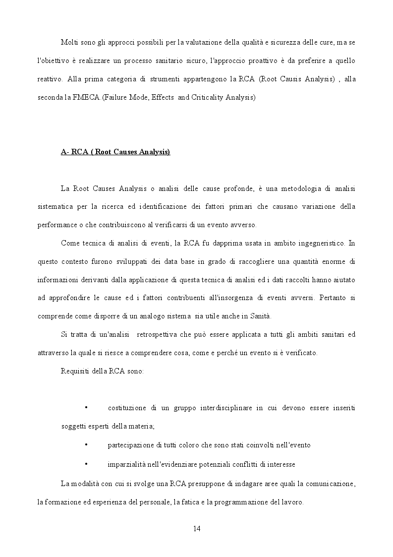 Estratto dalla tesi: Gestione del rischio clinico nell'allestimento dei farmaci antiblastici