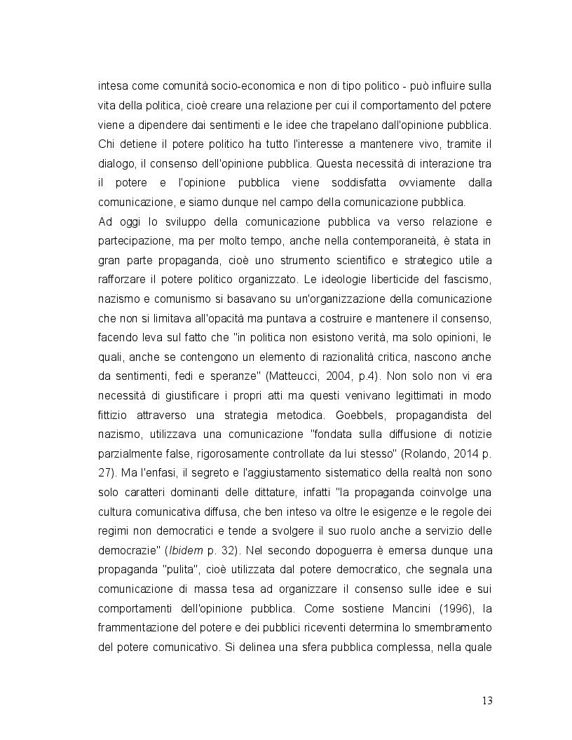 Estratto dalla tesi: Comunicazione di crisi delle pubbliche amministrazioni. Quale influenza sul voto?
