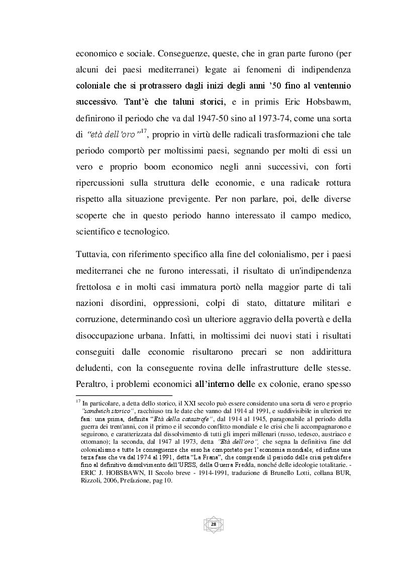Estratto dalla tesi: Lo sviluppo economico dei paesi del Mediterraneo dal 1950 al 2013