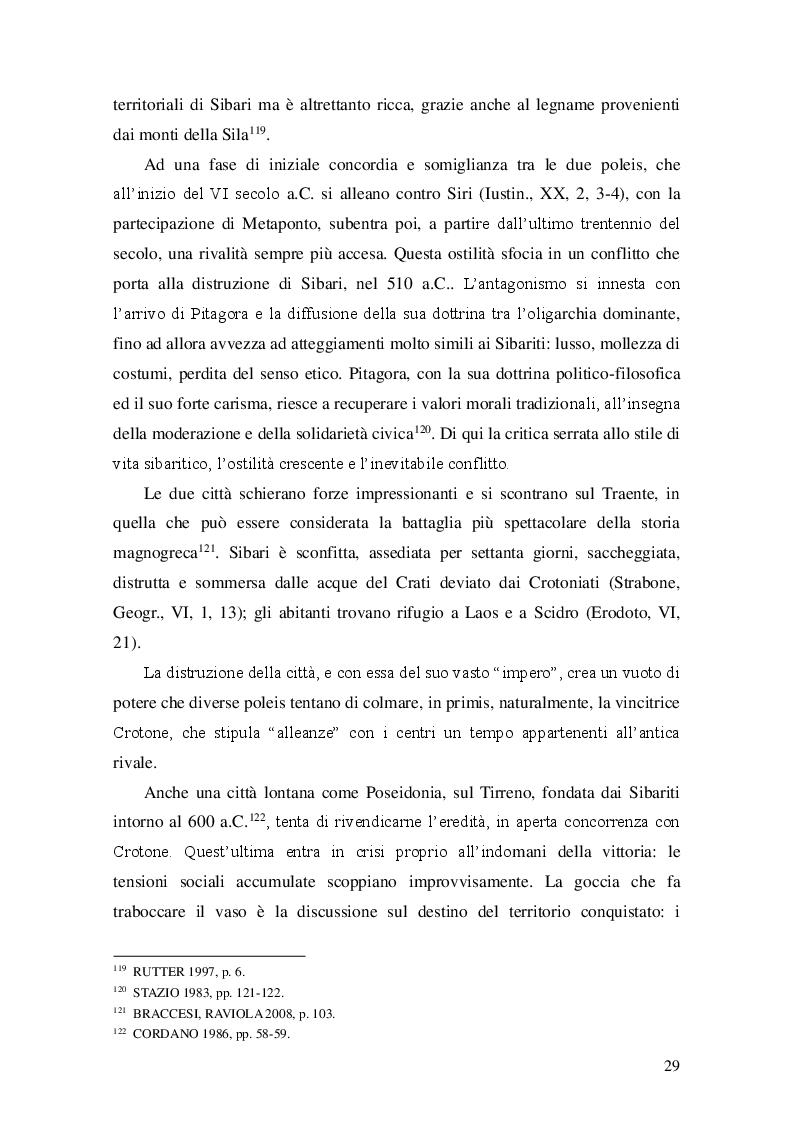 Estratto dalla tesi: I miti fondatori nell'iconografia monetale magnogreca: il caso di Taranto e Crotone