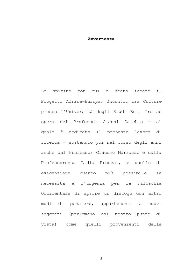Anteprima della tesi: Il pensiero socio-politico di Tsenay Serequeberhan: un'ermeneutica della filosofia africana, Pagina 1