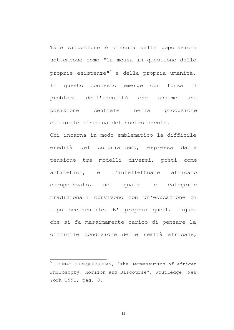 Anteprima della tesi: Il pensiero socio-politico di Tsenay Serequeberhan: un'ermeneutica della filosofia africana, Pagina 10