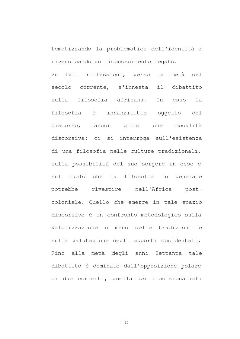 Anteprima della tesi: Il pensiero socio-politico di Tsenay Serequeberhan: un'ermeneutica della filosofia africana, Pagina 11