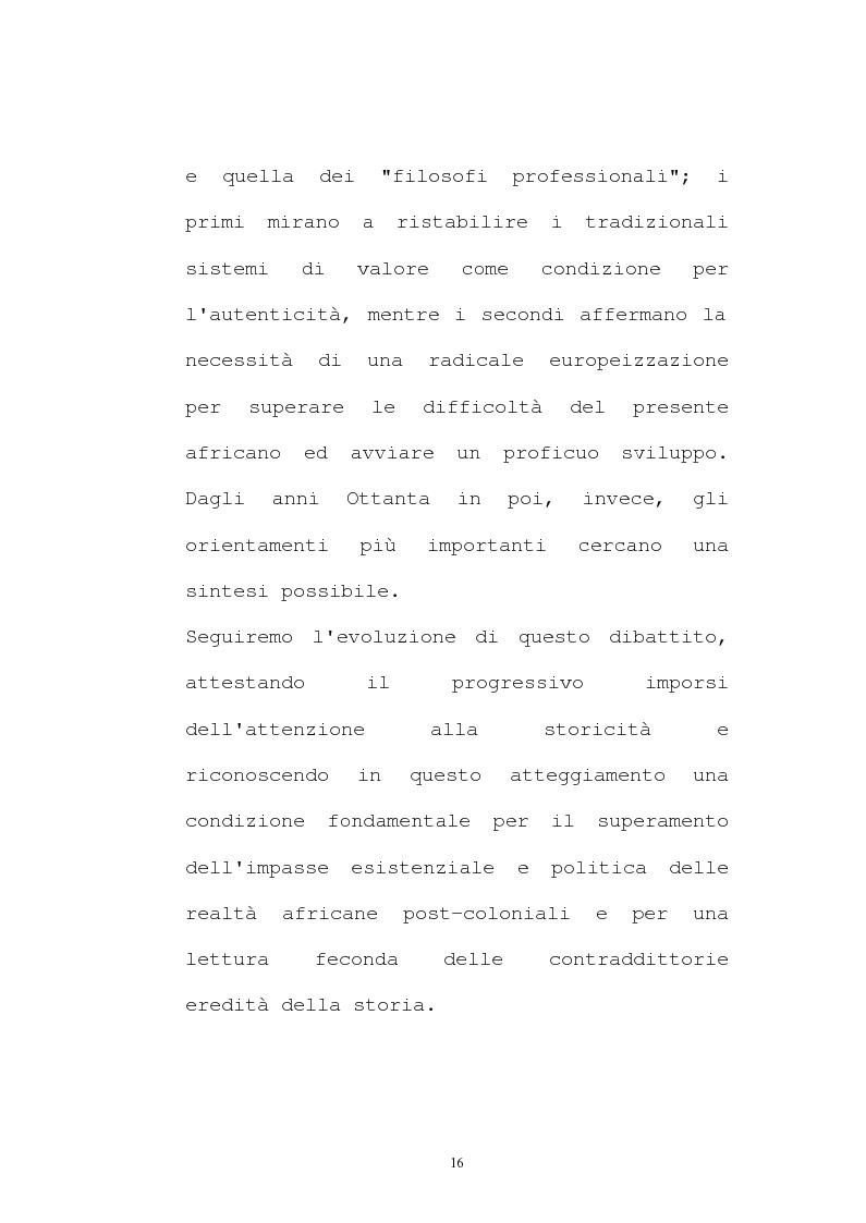Anteprima della tesi: Il pensiero socio-politico di Tsenay Serequeberhan: un'ermeneutica della filosofia africana, Pagina 12
