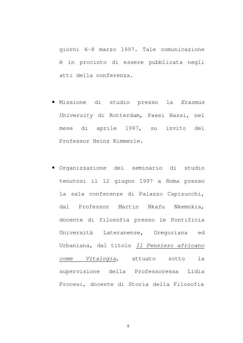 Anteprima della tesi: Il pensiero socio-politico di Tsenay Serequeberhan: un'ermeneutica della filosofia africana, Pagina 5