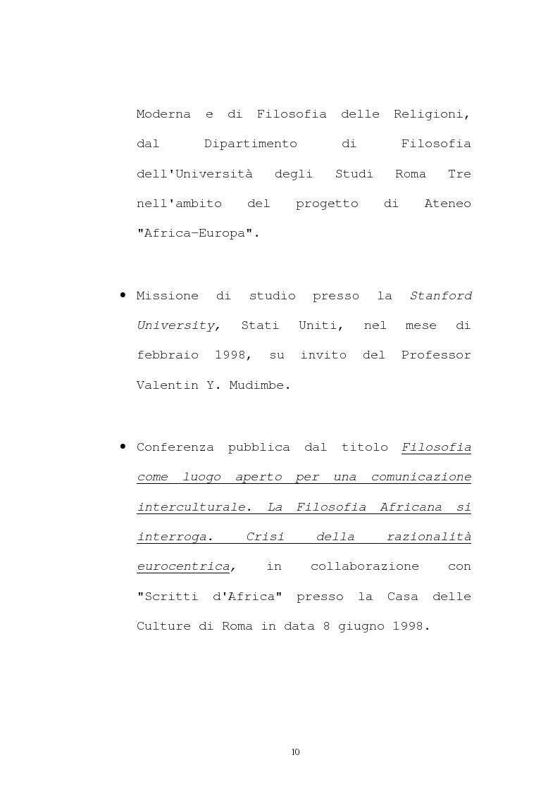 Anteprima della tesi: Il pensiero socio-politico di Tsenay Serequeberhan: un'ermeneutica della filosofia africana, Pagina 6