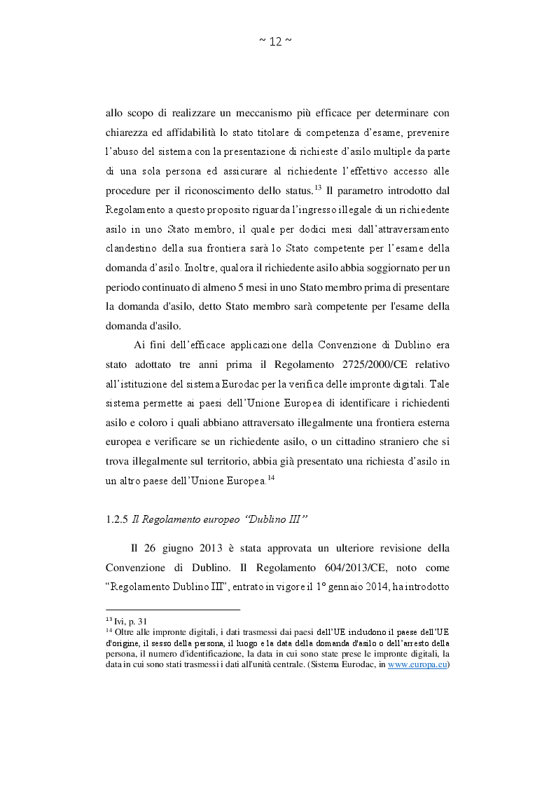 Estratto dalla tesi: Asilo politico tra diritto all'accoglienza e condanna alla disumanizzazione