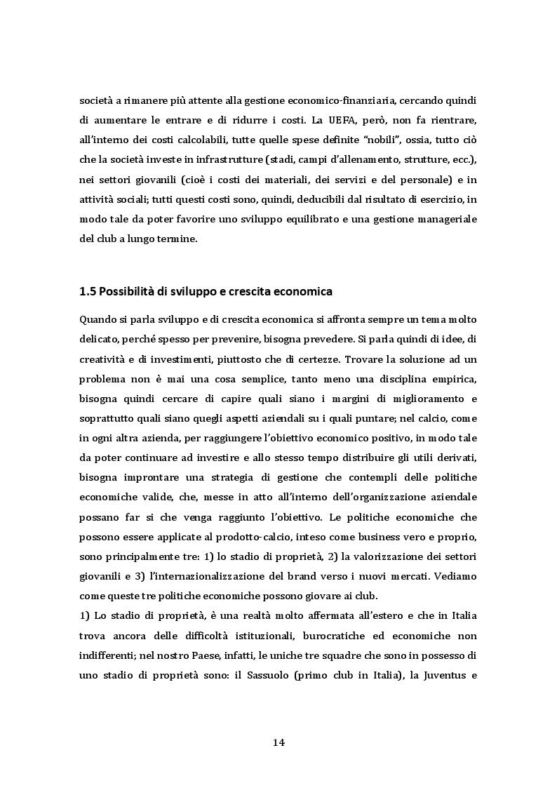 Estratto dalla tesi: La crisi economica del calcio. Modelli organizzativi e politiche di gestione dei settori giovanili