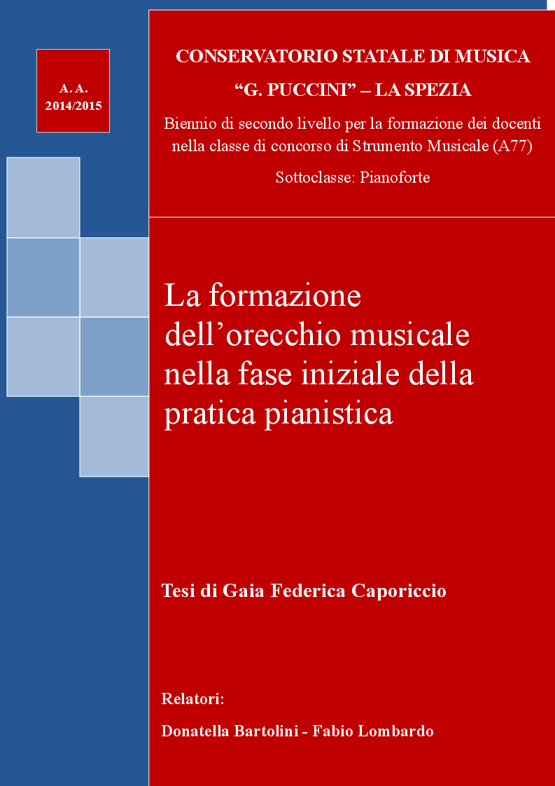 Anteprima della tesi: La formazione dell'orecchio musicale nella fase iniziale della pratica pianistica, Pagina 1
