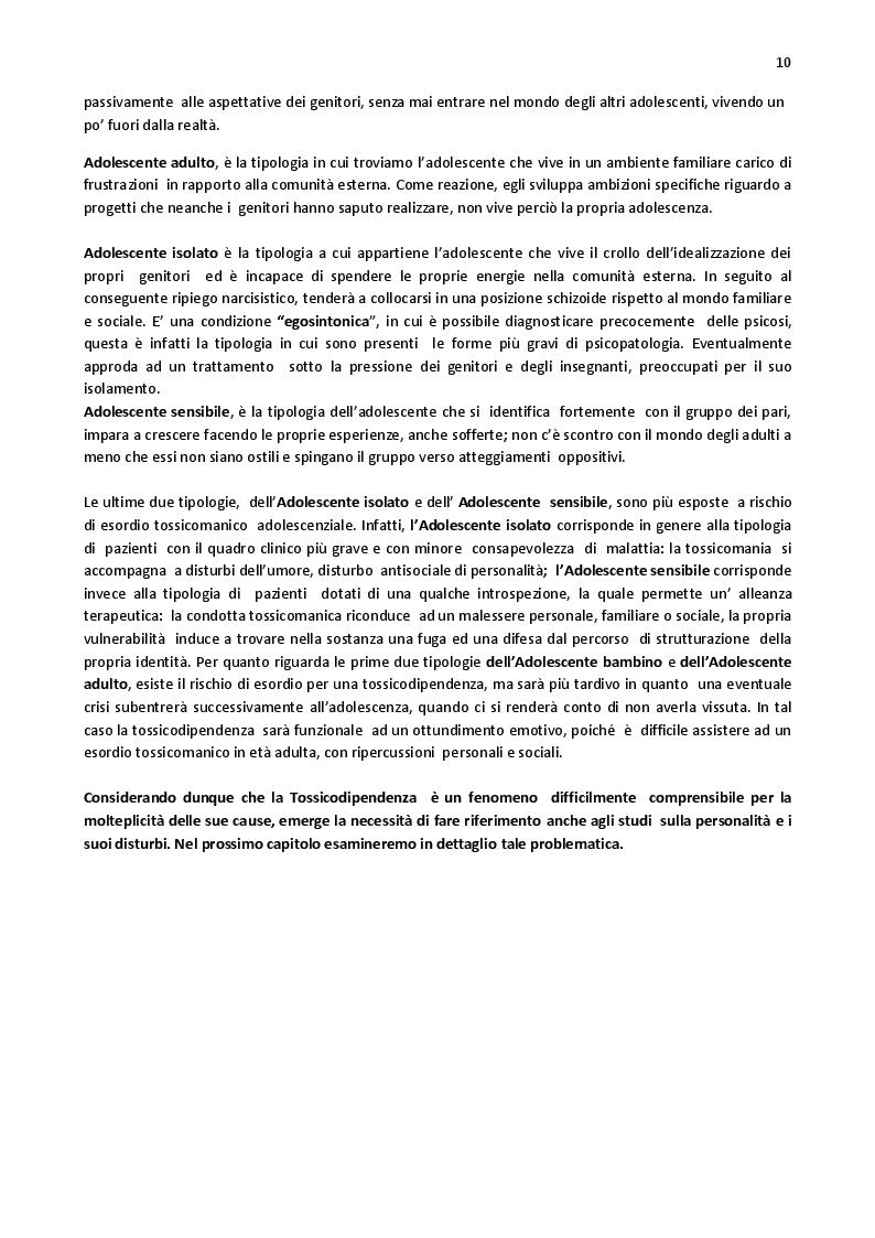 Estratto dalla tesi: Tossicodipendenza e disturbi di personalità. Comorbilità e nuovi orientamenti terapeutici