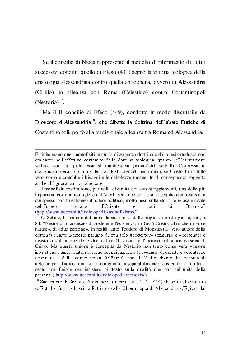 Estratto dalla tesi: Primato papale e patriarcato d'Occidente
