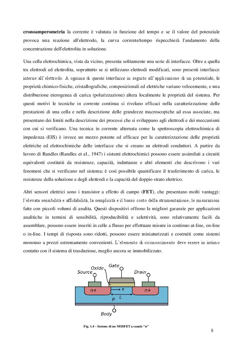 Estratto dalla tesi: Rilevazione di Ocratossina A mediante QCM e SPR