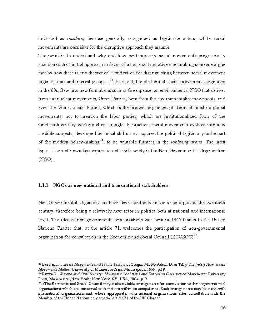 Estratto dalla tesi: Greening the Common Agricultural Policy: the European Environmental Bureau lobbying action