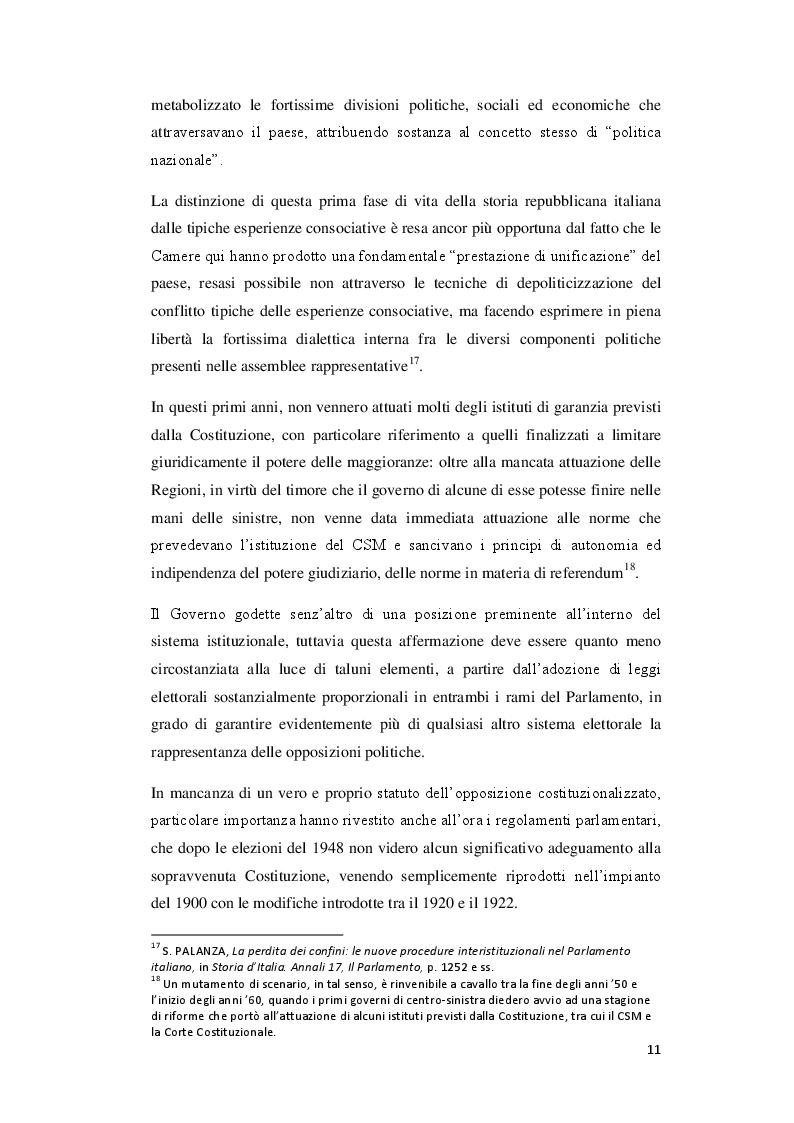 Estratto dalla tesi: Lo statuto dell'opposizione nelle proposte di riforma del Regolamento della Camera