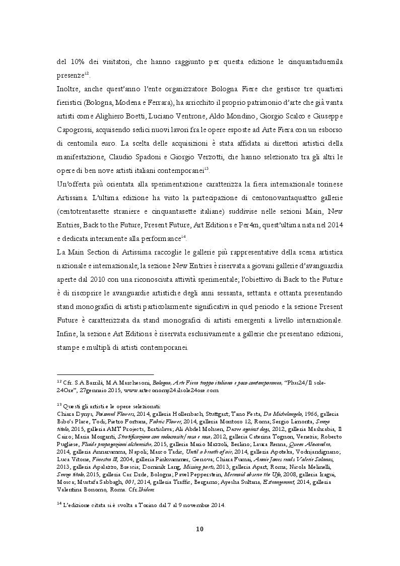Estratto dalla tesi: Il sistema dell'arte contemporanea e le dinamiche di mercato: la prospettiva italiana.