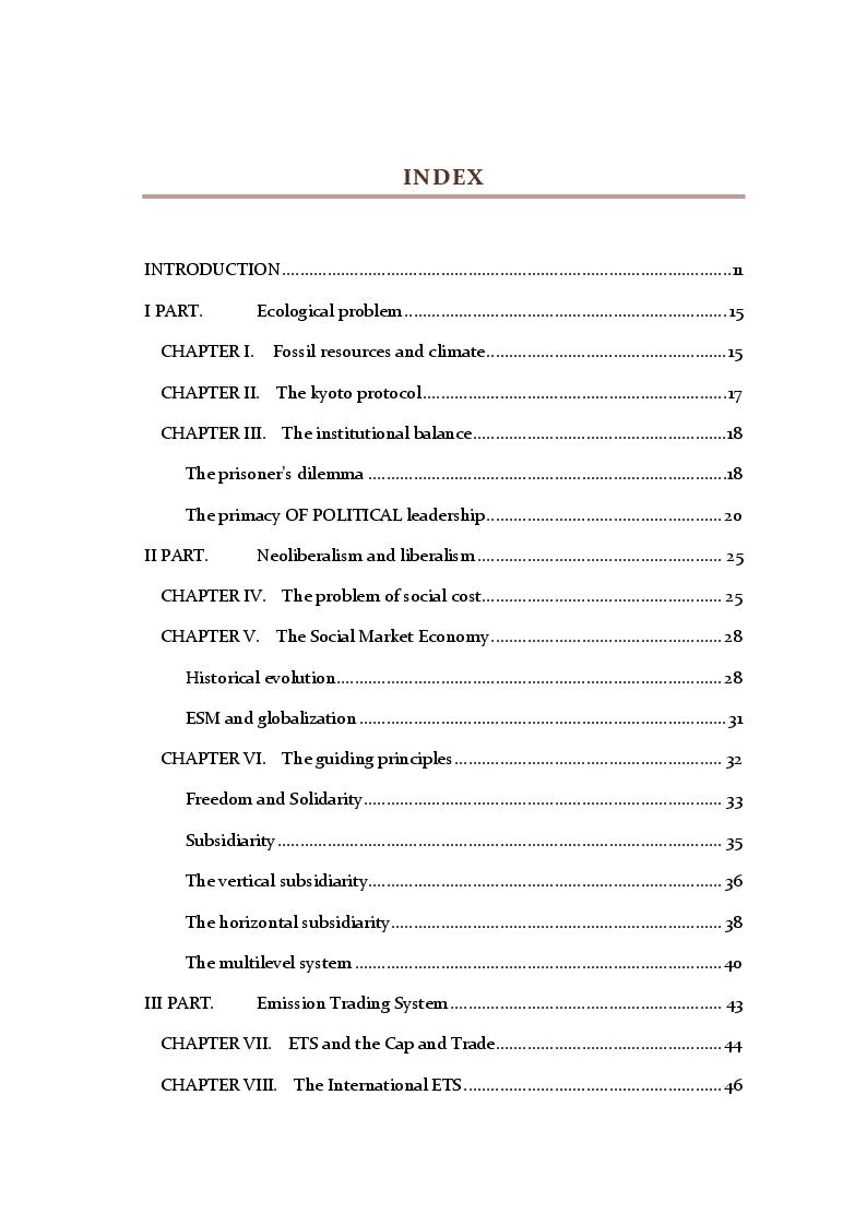 Indice della tesi: Agrifood Global Market and Social Market Economy, Pagina 1