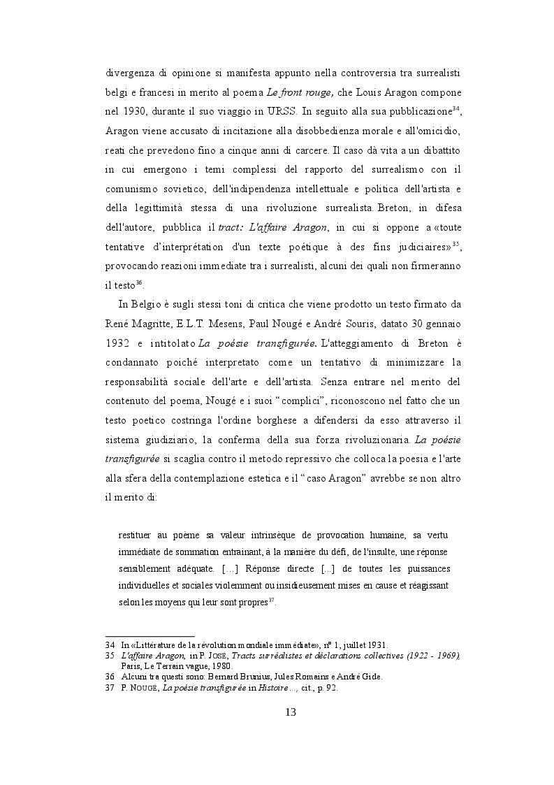Estratto dalla tesi: Marcel Mariën e la permanenza del surrealismo in Belgio