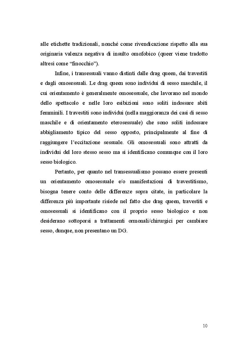 Estratto dalla tesi: Correlati psiconeuroendocrinologici della Disforia di Genere