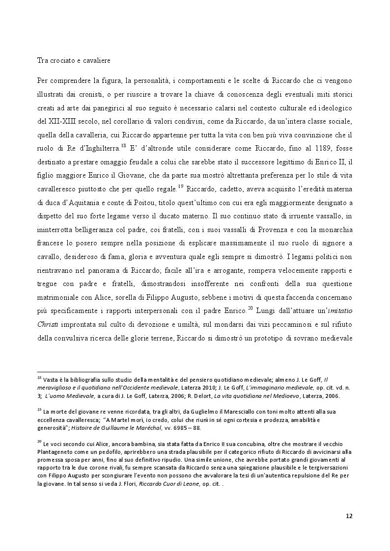 Estratto dalla tesi: Riccardo Cuor di Leone nella Messina del secolo decimosecondo alla luce delle testimonianze cronachistiche di Riccardo di Devizes e Ambrogio