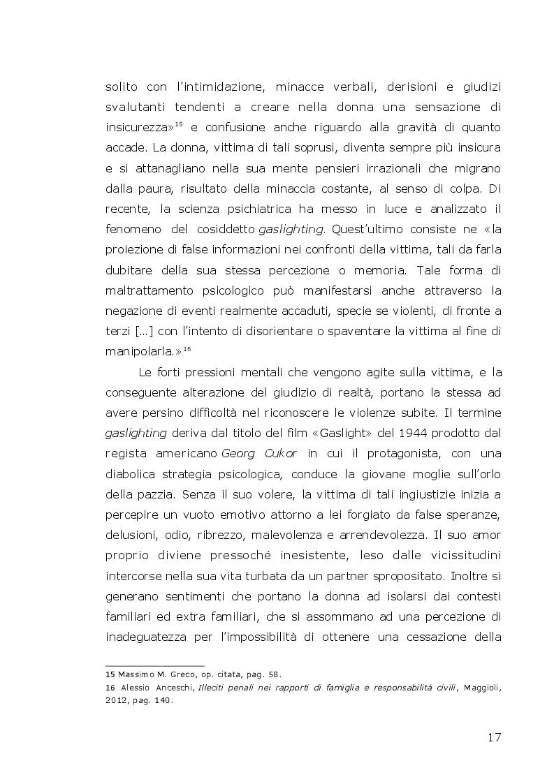 Estratto dalla tesi: Il misconosciuto mondo degli abusi sulle donne: il ruolo rivestito dall'Infermiere Forense