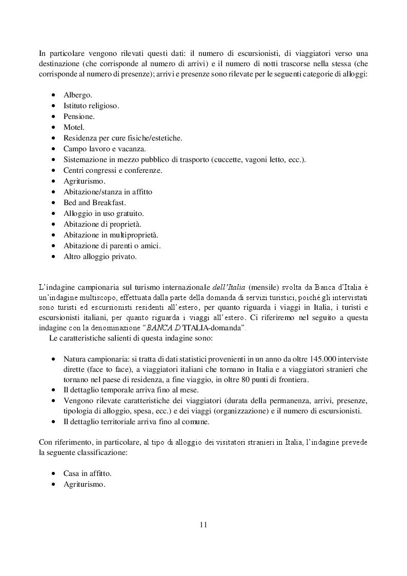 Estratto dalla tesi: Metodi statistici applicati alla stima del turismo sommerso nel comune di Verona