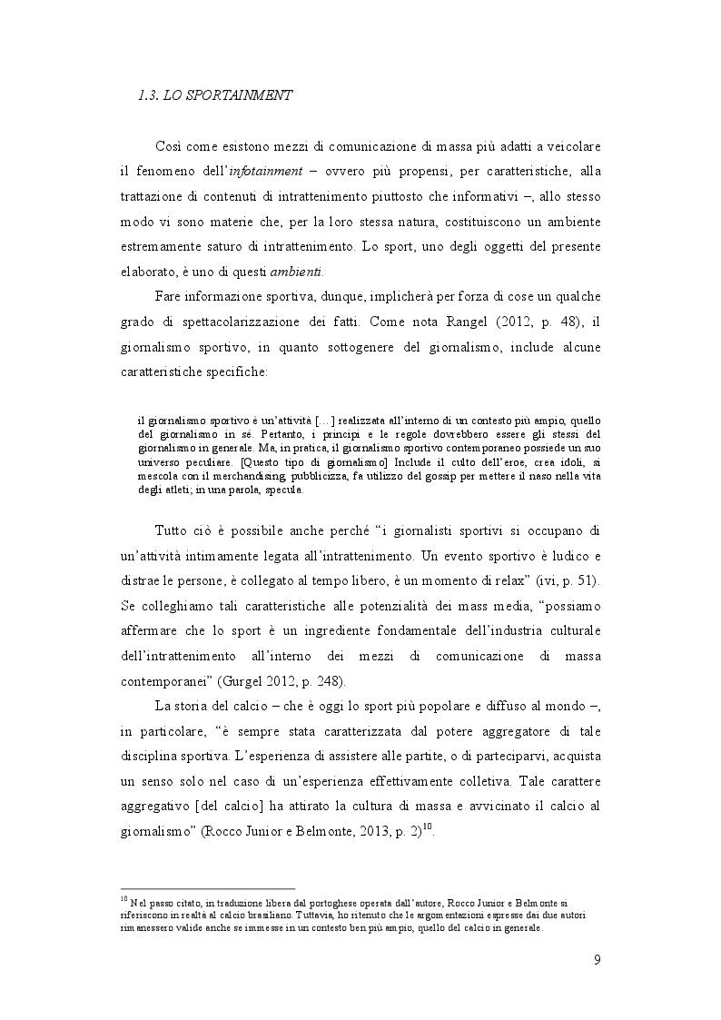 Estratto dalla tesi: Infotainment e carta stampata: il caso dei quotidiani sportivi brasiliani