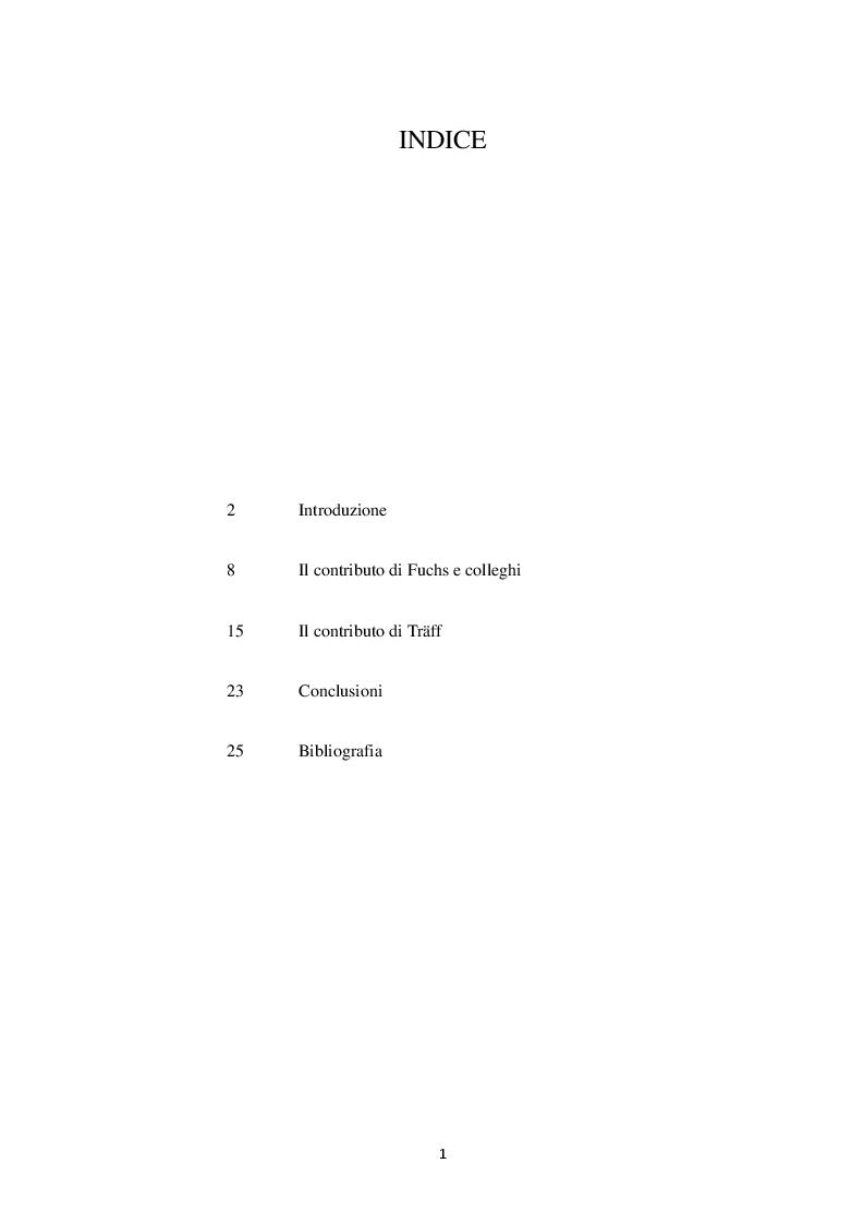 Indice della tesi: Abilità dominio-generali e abilità dominio specifiche nell'apprendimento matematico, Pagina 1
