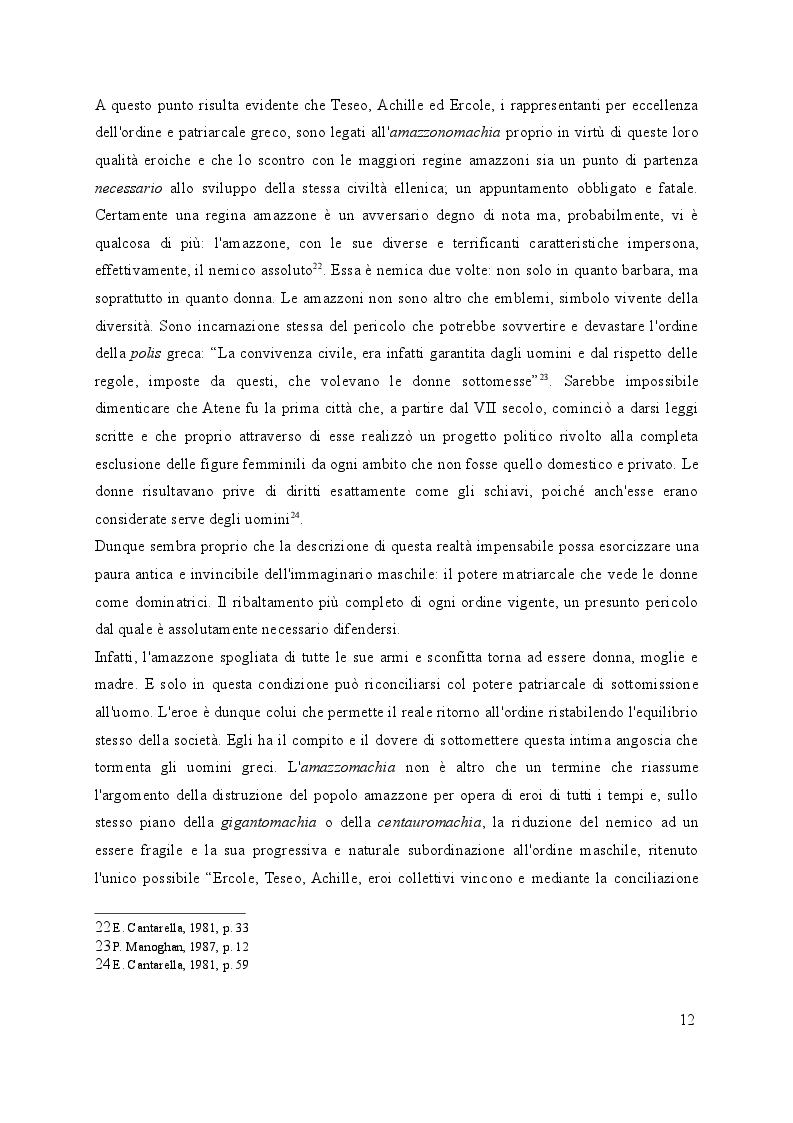 Estratto dalla tesi: Le donne guerriere nel poema cavalleresco del Rinascimento: dalle amazzoni a Clorinda