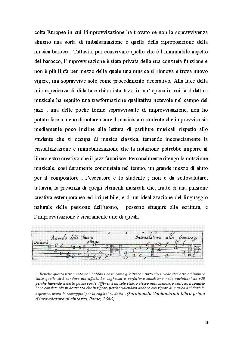 Estratto dalla tesi: Didattica dell'improvvisazione nell'insegnamento della chitarra per le scuole medie ad indirizzo musicale