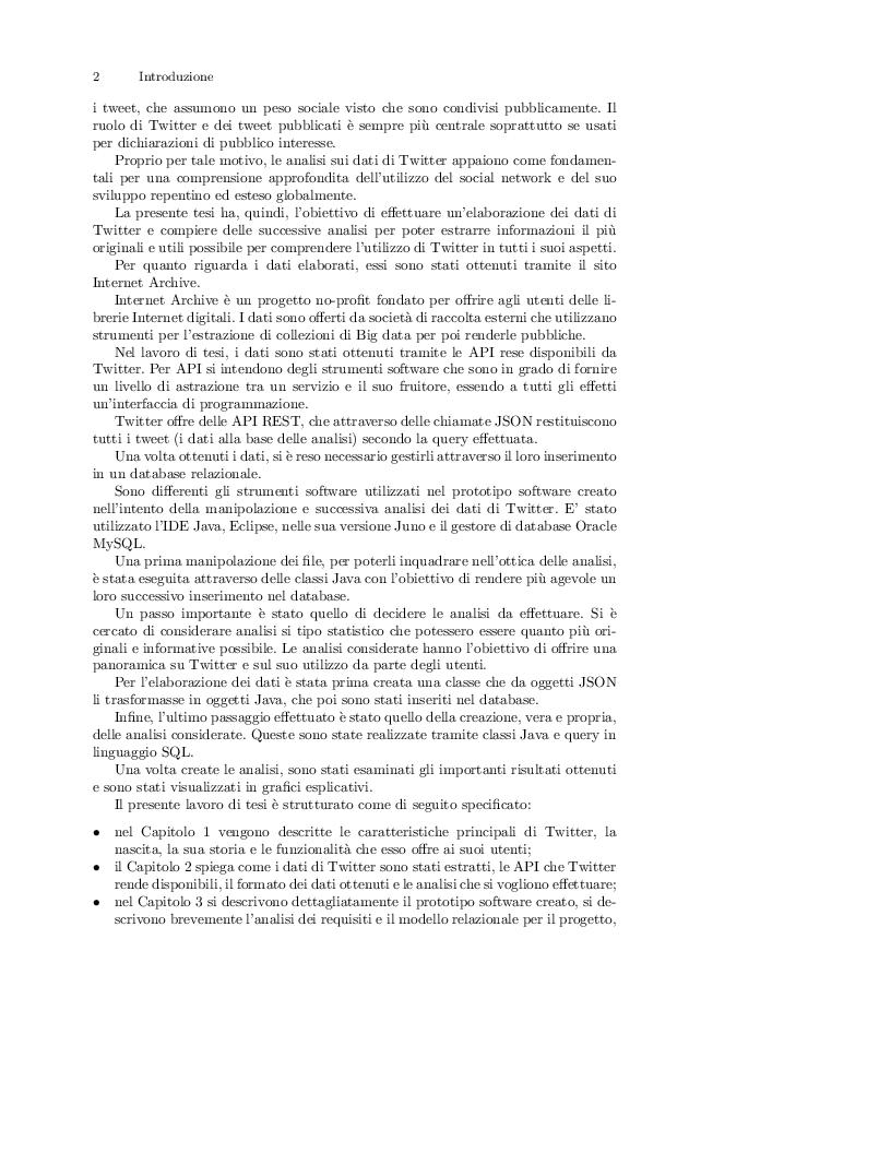 Estratto dalla tesi: Estrazione ed analisi dei dati di Twitter