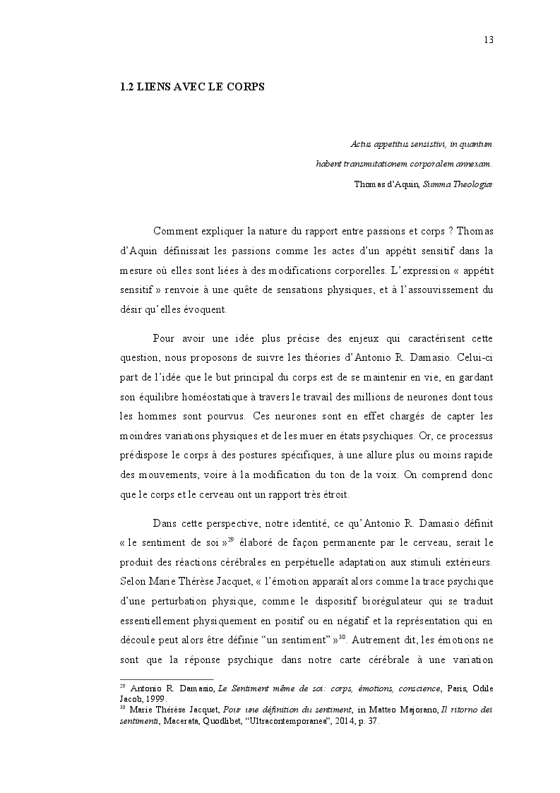 Estratto dalla tesi: Le corps et les sentiments dans l'univers romanesque de Maryline Desbiolles