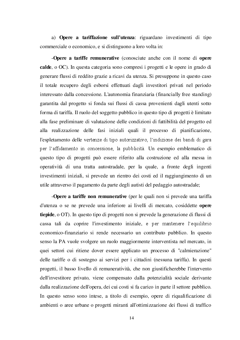 Estratto dalla tesi: Il Project Financing: un'opportunità per pubblico e privato