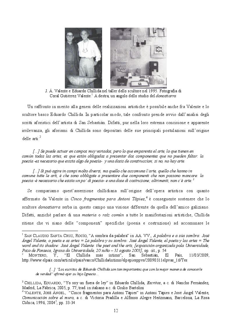 Estratto dalla tesi: José Ángel Valente, il poeta e le arti