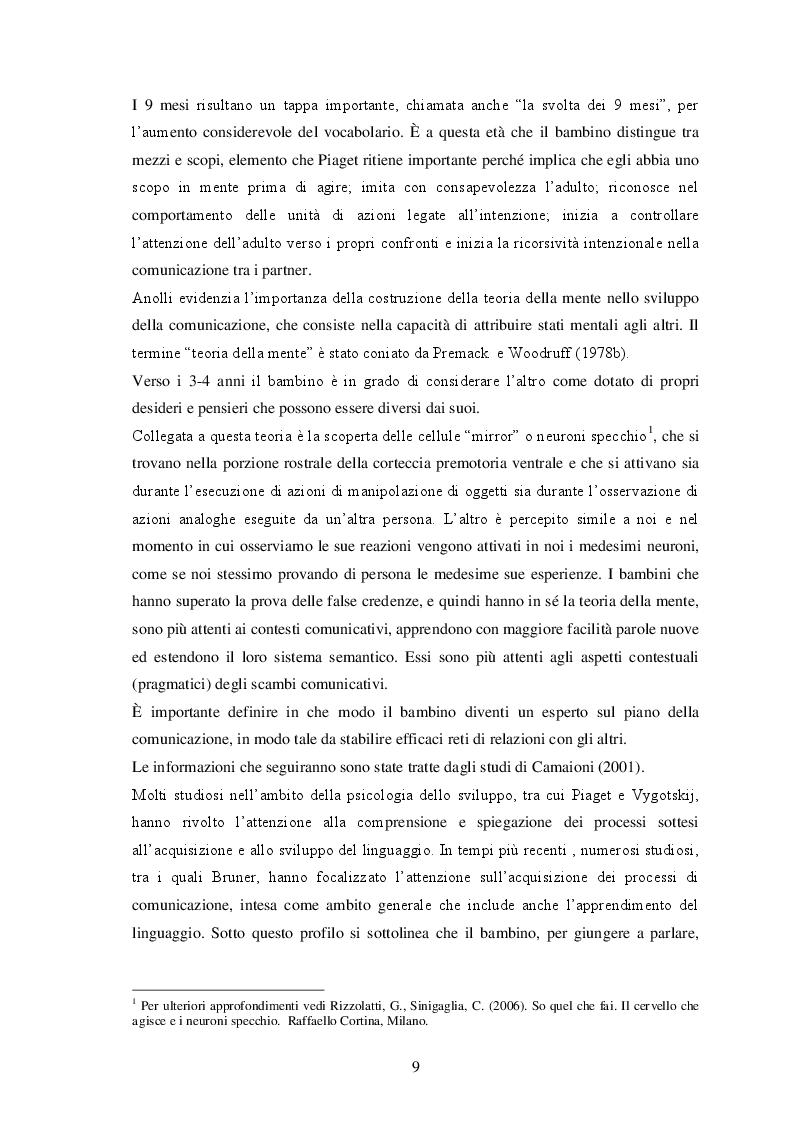 Estratto dalla tesi: Corpo e comunicazione alla Scuola dell'Infanzia
