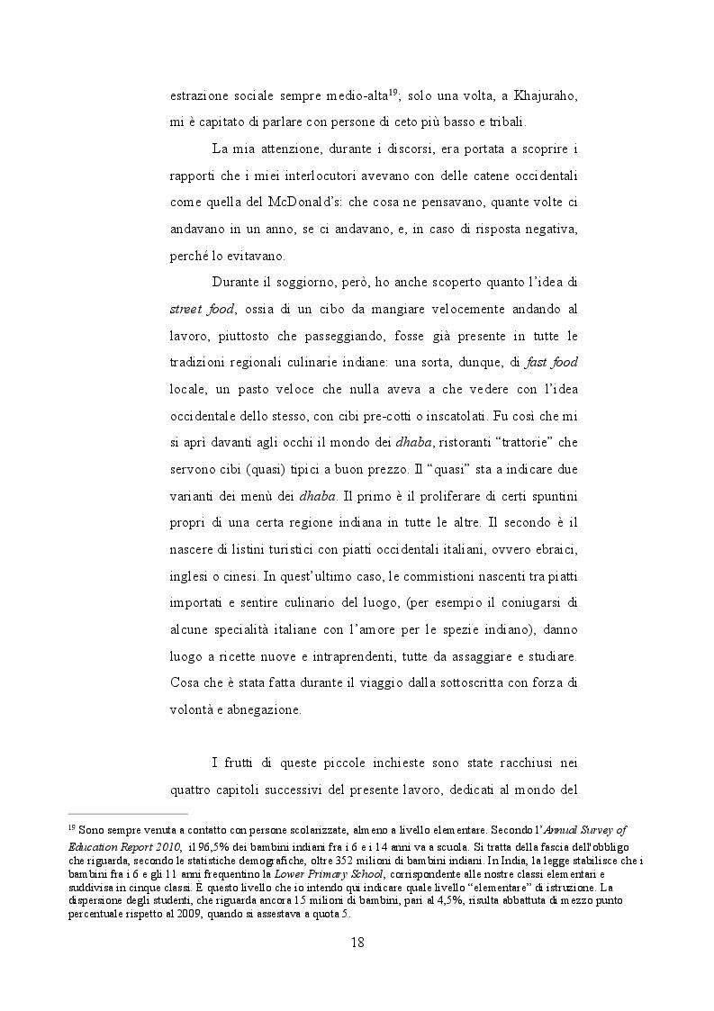 Estratto dalla tesi: Fast India. Compromessi di globalizzazione culinaria