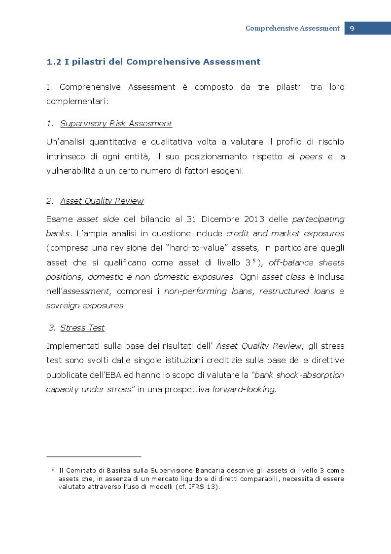 Estratto dalla tesi: Asset Quality Review e IAS 39: una verifica di coerenza