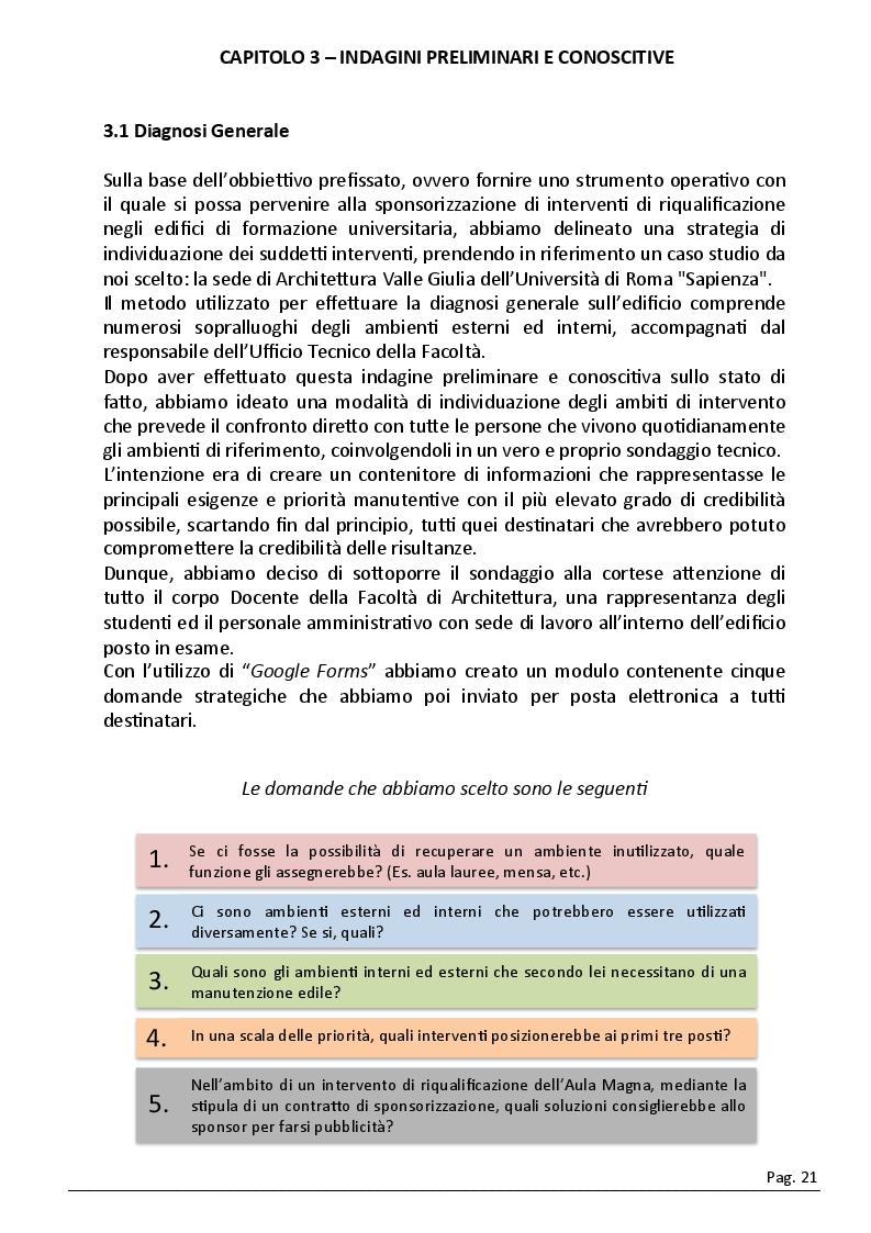 Estratto dalla tesi: Lo strumento ''sponsorizzazione'' per la riqualificazione edilizia: il caso della sede di Architettura della Sapienza Università di Roma - Via Gramsci