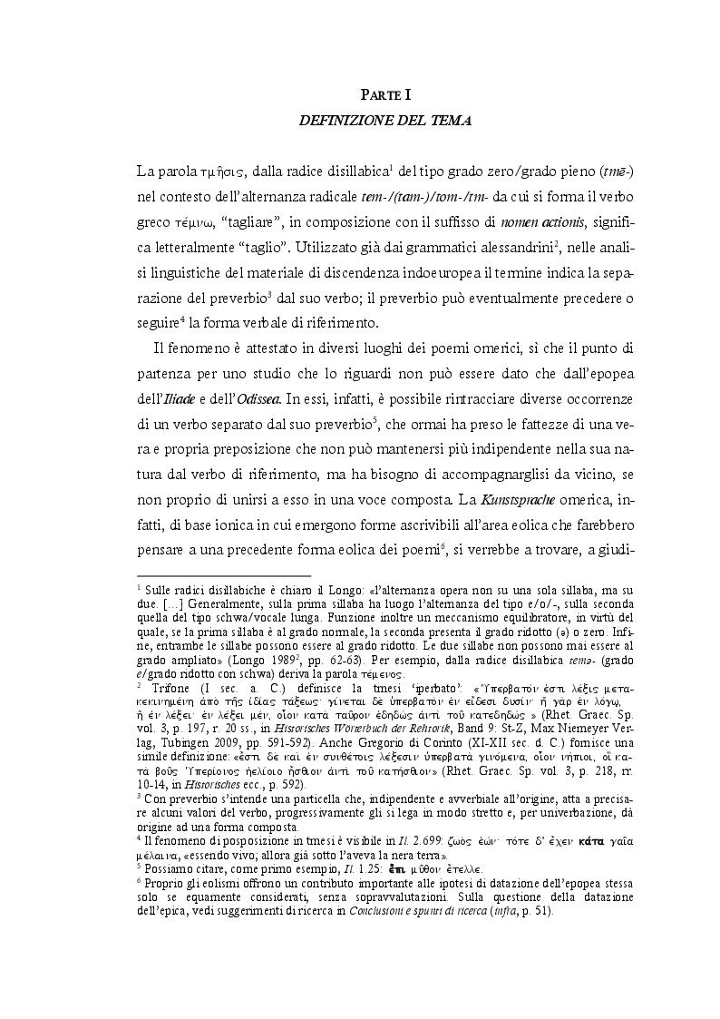 Estratto dalla tesi: 'Tmesi' fra indoeuropeo, miceneo e greco omerico