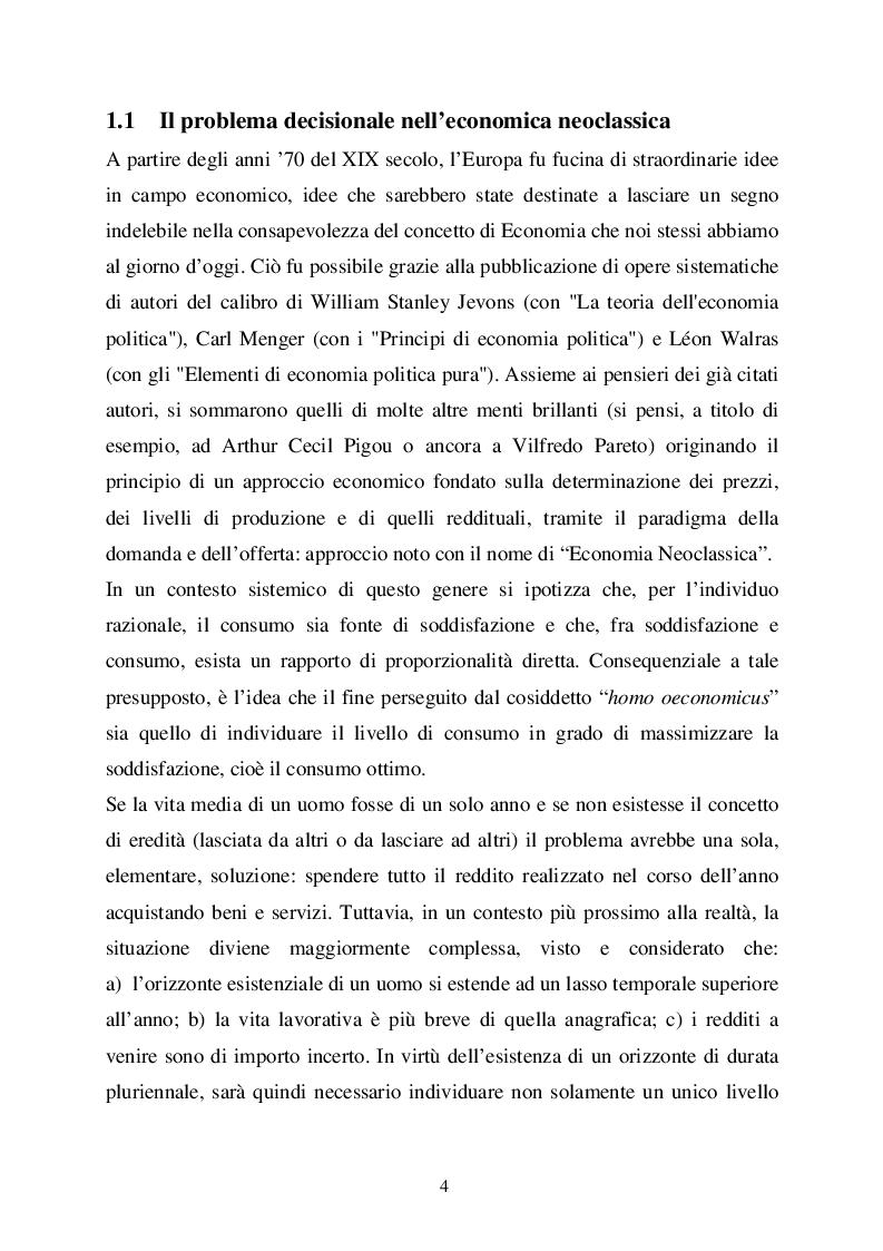 Economia e Psicologia nella dialettica dei processi decisionali tra razionalita? ed emozioni dell'agente economico. - Te...