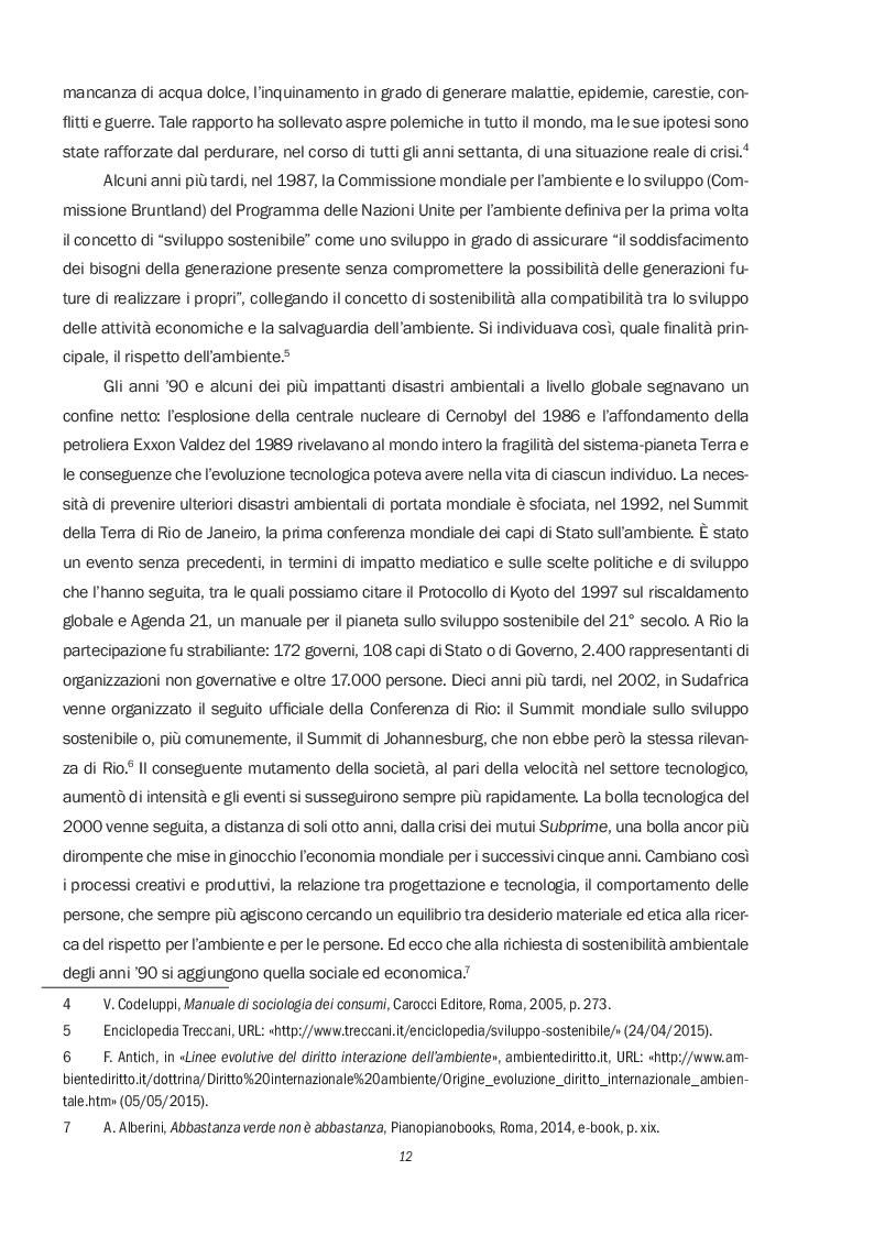 Estratto dalla tesi: Il green marketing attraverso la comunicazione, il prodotto e il consumatore