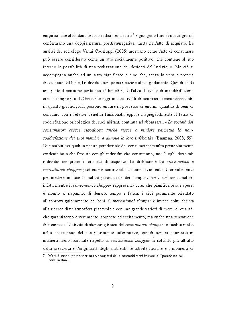 Estratto dalla tesi: Consumo e postmodernità: la nuova cultura dell'effimero