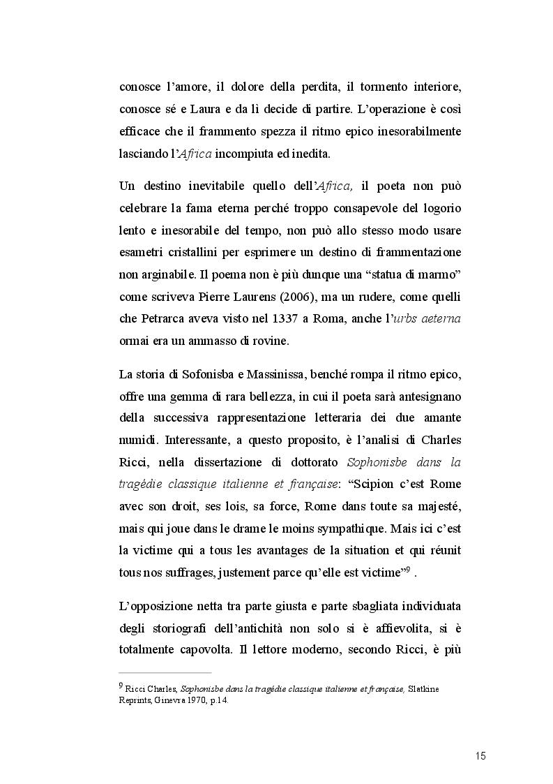 Estratto dalla tesi: Massinissa e Sofonisba nell'opera petrarchesca. Incontro tra culture diverse.
