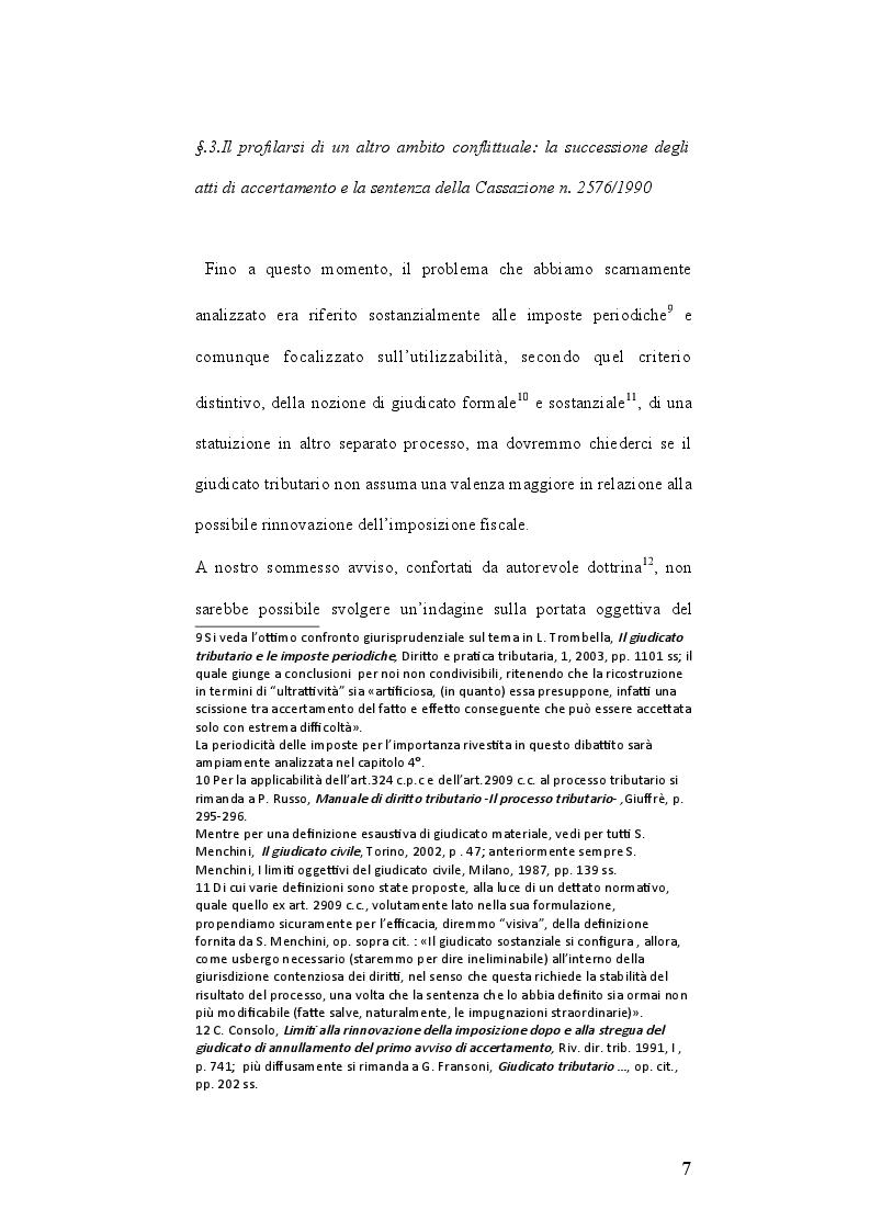 Estratto dalla tesi: I limiti oggettivi del giudicato tributario