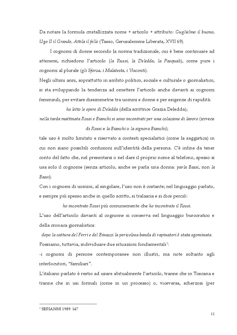 Estratto dalla tesi: Gli articoli e le preposizioni articolate nell'italiano di oggi e di ieri