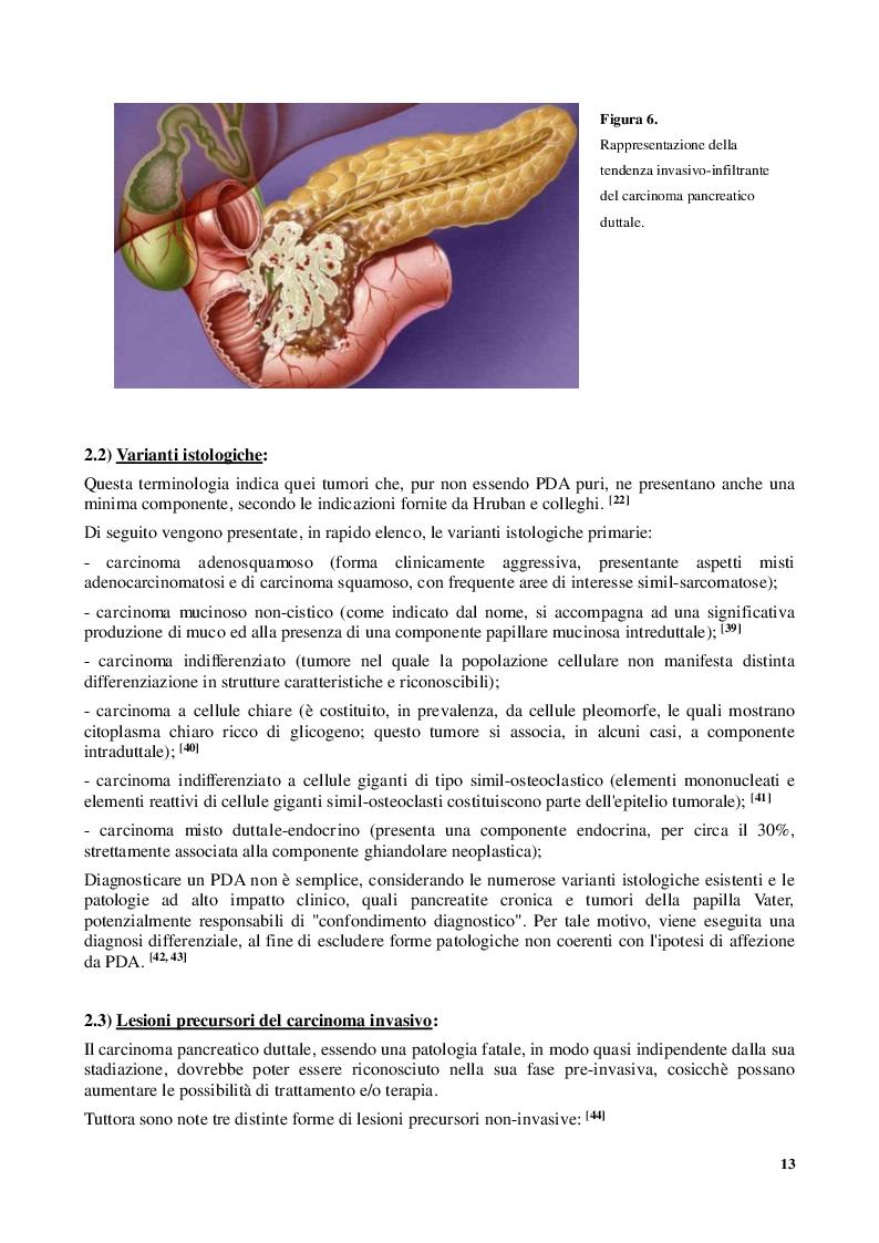 Estratto dalla tesi: Adenocarcinoma Pancreatico Duttale: peculiarità e fascino genetico del ''Silent Killer''