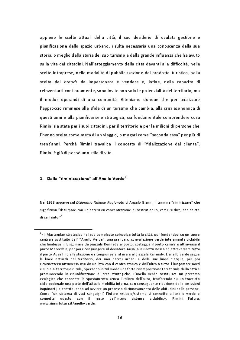 Estratto dalla tesi: Un'idea di benessere. Un'idea di città. Rimini Venture 2027, il Piano Strategico di Rimini