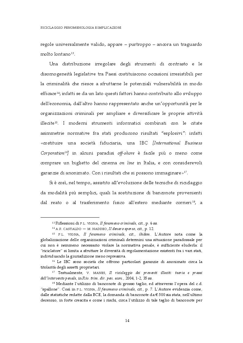 Estratto dalla tesi: Dal riciclaggio all'autoriciclaggio: analisi di un'evoluzione normativa